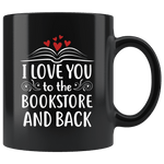 """I love you"" 11oz black mug - Gifts For Reading Addicts"