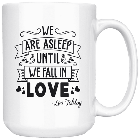 """We fall in love""15oz white mug - Gifts For Reading Addicts"