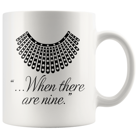 """When there are nine""11oz Black Mug - Gifts For Reading Addicts"