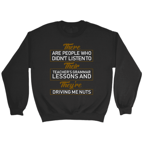 """GRAMMAR"" Sweatshirt - Gifts For Reading Addicts"