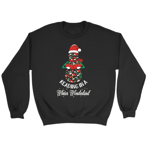"""Reading in a winter wonderland"" Sweatshirt"