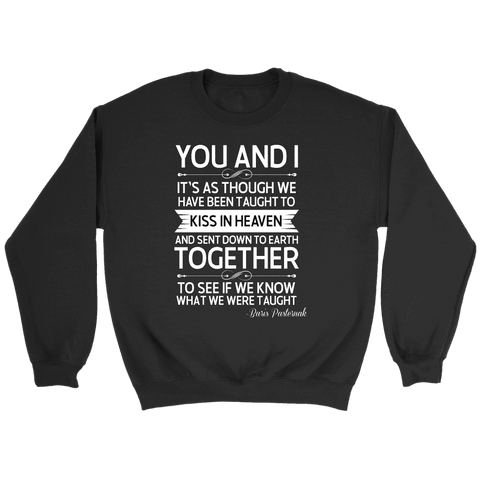 """You and i"" Sweatshirt - Gifts For Reading Addicts"