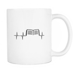 book heartbeat mug - Gifts For Reading Addicts