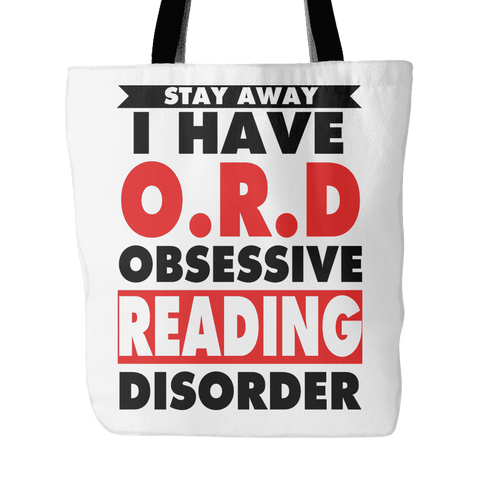 stay awy i have O.R.B obsessive reading disorder tote bag-For Reading Addicts