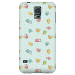 Colorful Bookish Pattern Phone Case Green-For Reading Addicts