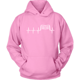 Book heart pulse Hoodie-For Reading Addicts