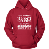 You Choose Selfies, I Choose Shelfies Hoodie-For Reading Addicts