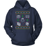 Christmas Bookish Ugly design Hoodie-For Reading Addicts