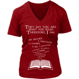 They say you are what you read - V-neck-For Reading Addicts