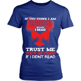 I'm crazy because i read ? Fitted T-shirt-For Reading Addicts