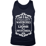 I always check Wardrobes for lions and witches, Mens Tank Top - Gifts For Reading Addicts