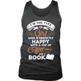 Books and Coffee Mens Tank - Gifts For Reading Addicts