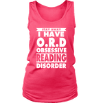 Stay Away I Have O.R.D Womens Tank Top-For Reading Addicts