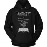 They say you are what you read Hoodie - Gifts For Reading Addicts