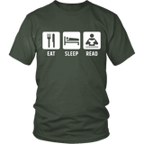 Eat, Sleep, Read Unisex T-shirt - Gifts For Reading Addicts