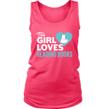 This girl loves reading books Womens Tank-For Reading Addicts