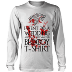 Game of Thrones Bloody T-shirt Long Sleeve - Gifts For Reading Addicts