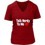 Talk Nerdy To Me V-neck - Gifts For Reading Addicts