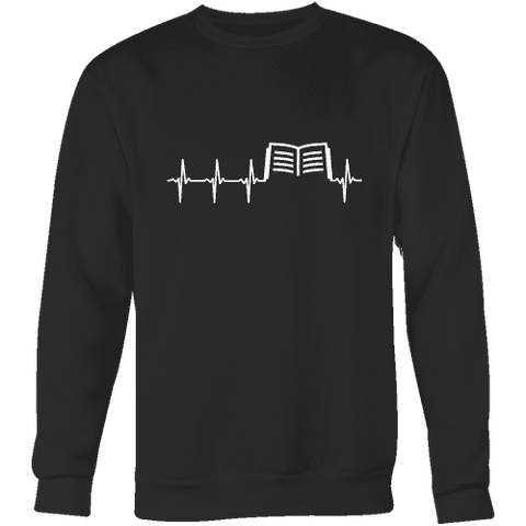 Book heart pulse Sweatshirt-For Reading Addicts