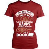 Books and Coffee Fitted T-shirt-For Reading Addicts