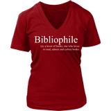 Bibliophile V-neck - Gifts For Reading Addicts