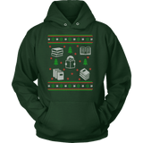 Christmas Bookish Ugly design Hoodie - Gifts For Reading Addicts
