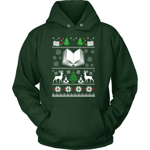 Christmas Ugly Hoodie - Gifts For Reading Addicts