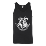 The Hogwarts Crest Unisex Tank-For Reading Addicts