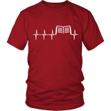 Book heart pulse Unisex T-shirt - Gifts For Reading Addicts