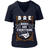 BAE, Books Are Everything V-neck-For Reading Addicts
