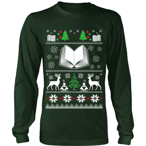 Christmas Ugly Sweater Tees - Gifts For Reading Addicts