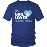This girl loves reading books Unisex T-shirt-For Reading Addicts
