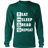 Eat, Sleep, Read, Repeat Long Sleeve - Gifts For Reading Addicts