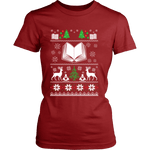 Christmas Ugly Fitted T-shirt-For Reading Addicts