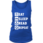Eat, Sleep, Read, Repeat Womens Tank - Gifts For Reading Addicts
