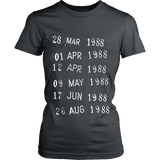 Library Stamp Fitted T-shirt-For Reading Addicts