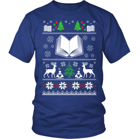 Christmas Ugly Unisex T-shirt-For Reading Addicts