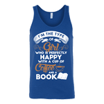 Books and Coffee Unisex Tank - Gifts For Reading Addicts