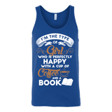 Books and Coffee Unisex Tank-For Reading Addicts