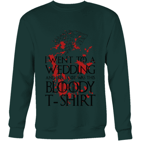 Game of Thrones Bloody T-shirt Sweatshirt - Gifts For Reading Addicts