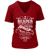 I am a reader V-neck - Gifts For Reading Addicts