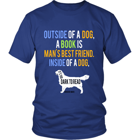 Outside of a dog, a book is ...-For Reading Addicts