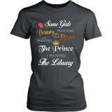 Beauty And The Beast Fitted T-shirt-For Reading Addicts