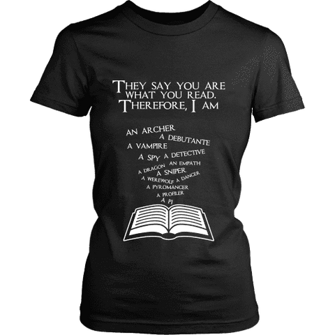 They say you are what you read Fitted T-shirt - Gifts For Reading Addicts