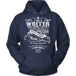 I am a writer Hoodie-For Reading Addicts