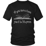 If You Were a Book You Would Be Fine Print Unisex T-shirt - Gifts For Reading Addicts