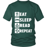Eat, Sleep, Read, Repeat Unisex T-shirt-For Reading Addicts
