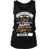 Books and Coffee Womens Tank-For Reading Addicts