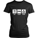 Eat, Sleep, Read Fitted T-shirt - Gifts For Reading Addicts