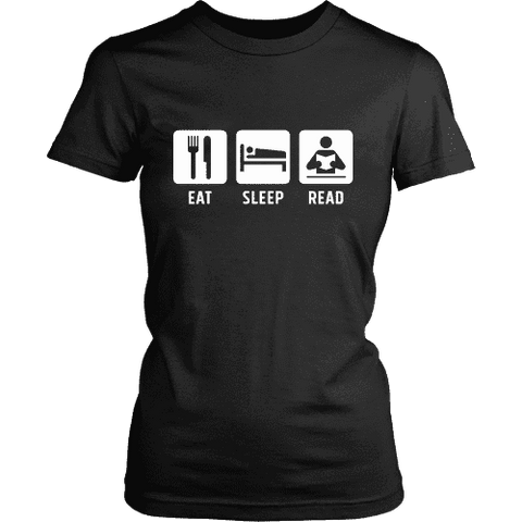 Eat, Sleep, Read Fitted T-shirt-For Reading Addicts
